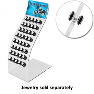 ACRYLIC DISPLAY FOR 40 TONGUE BARBELLS WITH STICKER056 PIERCING
