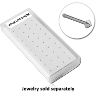 BOX FOR NOSE BONE WITH FOAM 40 HOLE EMPTY PART PIERCING