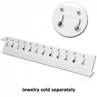 DISPLAY-ACRYLIC Z STAND WITH 12 HOLES 5X30CM PIERCING