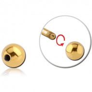 GOLD PVD COATED SURGICAL STEEL MICRO BALL