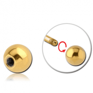 GOLD PVD COATED SURGICAL STEEL BALL
