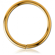 GOLD PVD COATED SURGICAL STEEL SEAMLESS RING PIERCING