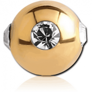 GOLD PVD COATED SURGICAL STEEL JEWELLED SATELLITE MICRO BALL