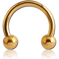 GOLD PVD COATED SURGICAL STEEL MICRO CIRCULAR BARBELL