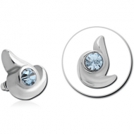 SURGICAL STEEL JEWELLED MICRO ATTACHMENT FOR 1.2MM INTERNALLY THREADED PINS - BLADE
