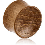 ORGANIC WOODEN PLUG TEAK CONCAVE DOUBLE FLARED
