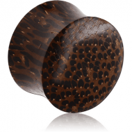 ORGANIC WOODEN PLUG PALM DOUBLE FLARED