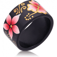 ORGANIC WOODEN RING PAINTED