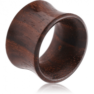 ORGANIC WOODEN TUNNEL DOUBLE FLARED - BLACK WOOD-SONO - THIN