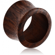 ORGANIC WOODEN TUNNEL DOUBLE FLARED - BLACK WOOD