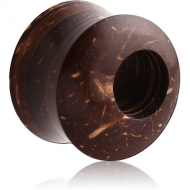 ORGANIC COCONUT SHELL TUNNEL DOUBLE FLARED OFF-CENTER