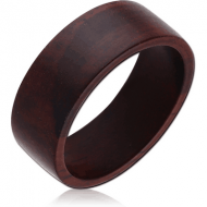 ORGANIC WOODEN RING PLAIN BLACK WOOD-SONO FLAT