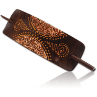 ORGANIC WOODEN HAIR CLIP PAINTED