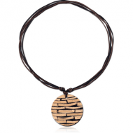 COCONUT SHELL STRIPE RESIN NECKLACE