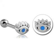 SURGICAL STEEL TRAGUS MICRO BARBELL- EYE PIERCING