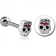 SURGICAL STEEL TRAGUS MICRO BARBELL - GHOST