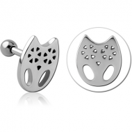 SURGICAL STEEL TRAGUS MICRO BARBELL PIERCING