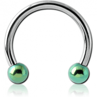 SURGICAL STEEL MICRO CIRCULAR BARBELL WITH ANODISED BALLS