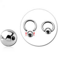 SURGICAL STEEL MICRO SLAVE BALL WITHOUT BALL CLOSURE RING