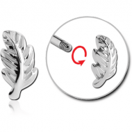 SURGICAL STEEL MICRO THREADED ATTACHMENT-LEAF