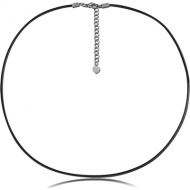 WAX ROPE NECKLACE WITH EXTENSION CHAIN