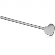 STERLING SILVER 925 HEART STRAIGHT NOSE STUD