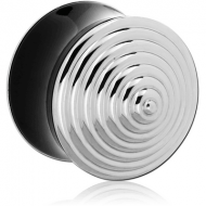 ACRYLIC DOUBLE FLARED PLUG WITH THREADED STAINLESS HEADS