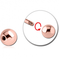 ROSE GOLD PVD COATED SURGICAL STEEL MICRO BALL