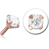 ROSE GOLD PVD COATED SURGICAL STEEL JEWELLED PUSH FIT ATTACHMENT FOR BIOFLEX INTERNAL LABRET