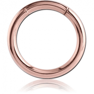 ROSE GOLD PVD COATED SURGICAL STEEL SMOOTH SEGMENT RING PIERCING
