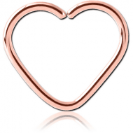 ROSE GOLD PVD COATED SURGICAL STEEL OPEN HEART SEAMLESS RING