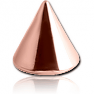 ROSE GOLD PVD COATED SURGICAL STEEL MICRO CONE