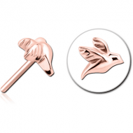 ROSE GOLD PVD COATED SURGICAL STEEL THREADLESS ATTACHMENT - BIRD PIERCING
