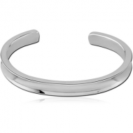SURGICAL STEEL BANGLE WITH CONCAVE