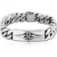 SURGICAL STEEL BRACELET WITH PLATE