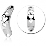 SURGICAL STEEL INTIMATE SHIELD PIERCING