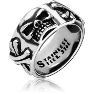 SURGICAL STEEL RING - SKULL