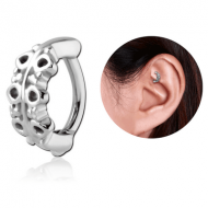 SURGICAL STEEL ROOK CLICKER - FILIGREE PIERCING