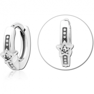 SURGICAL STEEL JEWELLED MULTI PURPOSE HUGGIE PIERCING PIERCING