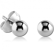SURGICAL STEEL EAR STUDS PAIR - BALL 3MM