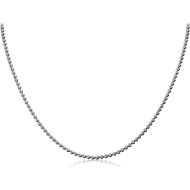 STAINLESS STEEL BALL CHAIN 9CMS WIDTH*2.4MM