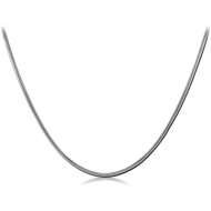 STAINLESS STEEL OMEGA NECK CHAIN 45CMS WIDTH*0.9MM