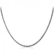 STAINLESS STEEL BEVEL CUT CABLE NECK CHAIN 40CMS