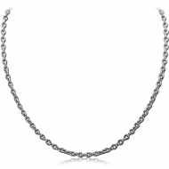 STAINLESS STEEL CABLE NECK CHAIN 45CMS