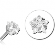 SURGICAL STEEL JEWELLED PUSH FIT ATTACHMENT FOR BIOFLEX INTERNAL LABRET - STAR
