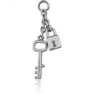 SURGICAL STEEL ATTACHMENT FOR INTIMATE PIERCING - LOCK AND KEY PIERCING