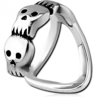 SURGICAL STEEL LIP CUFF - SKULL PIERCING