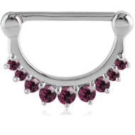SURGICAL STEEL JEWELLED NIPPLE CLICKER