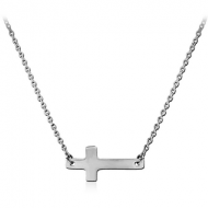 SURGICAL STEEL NECKLACE WITH PENDANT - CROSS