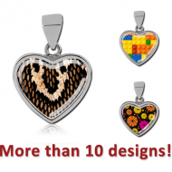 SURGICAL STEEL PICTURE PENDANT - HEART